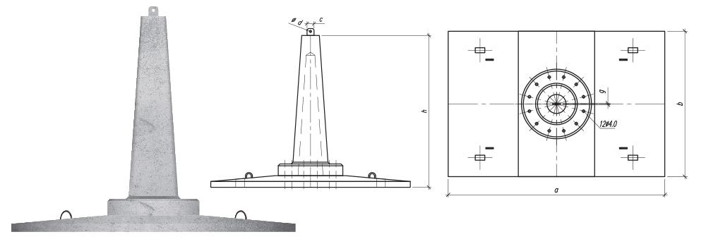 Fundamenty stopowe składane z płytą prostokątną typu SF