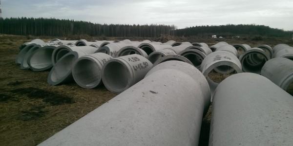 Rury betonowe - Droga S3 Legnica-Lubin - 2