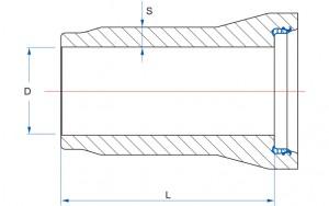 Króciec bosy koniec - kielich - schemat 1