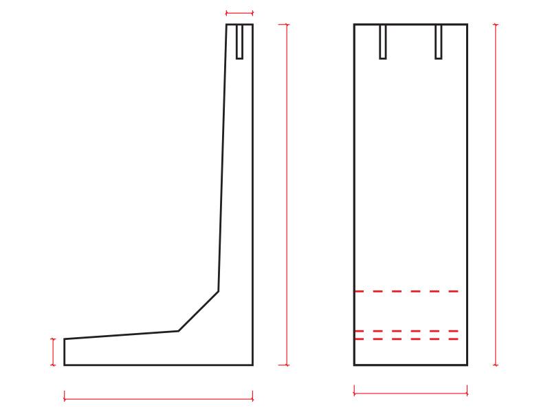 Ściany oporowe typ L - schemat