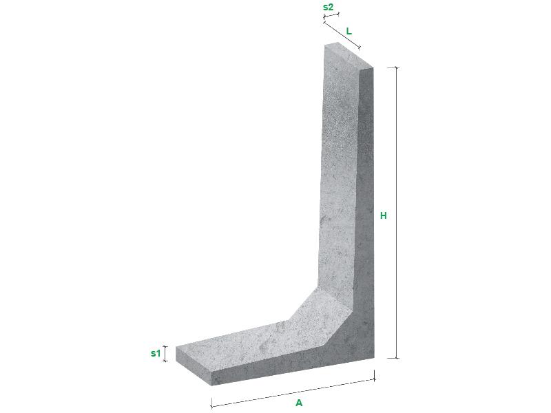 Ściany oporowe typ L - wizualizacja