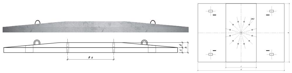 Płyta prostokątna P230x340-1, P230x340-2, P230x340-3