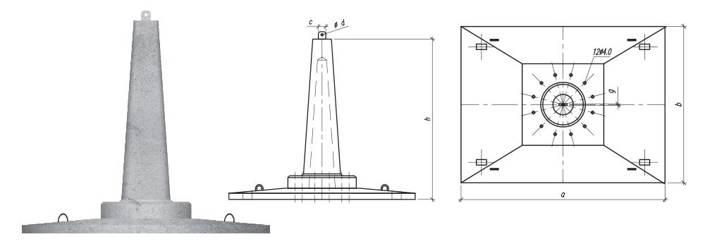 Fundamenty liniowe składane z płytą prostokątną typu SF